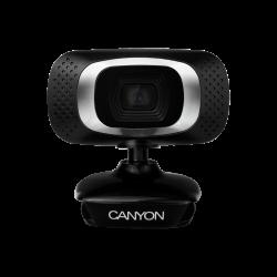CANYON CNE-CWC3N 720P HD, USB2.0, 360° fekete-ezüst webkamera