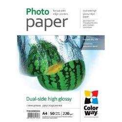 ColorWay A4 tintasugaras magasfényű kétoldalas fotópapír (50 lap/csomag)