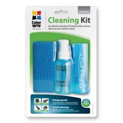 ColorWay CW-4130 3in1 tisztító készlet (kendő, spray, puha kefe)