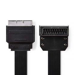 Nedis CVGP31045BK20 SCART apa - SCART apa 270° 2 m fekete kábel