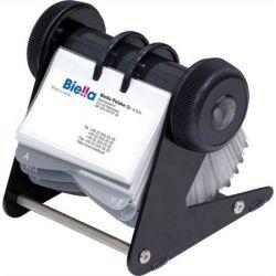 DONAU 400 db-os nyitott forgatható fekete névjegytartó