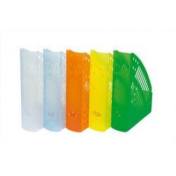 DONAU  Iratpapucs, műanyag, 70 mm,áttetsző kék