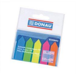 DONAU 12x45 mm műanyag nyíl forma neon színű jelölőcímke (5x25 lap)