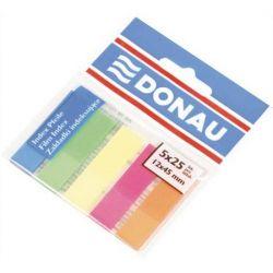 DONAU 12x45 mm műanyag neon szín jelölőcímke (5x25 lap)