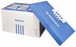 DONAU 545x363x317 mm karton kék-fehér archiváló konténer levehető tetővel