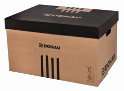 DONAU 545x363x317 mm karton archiváló konténer levehető tetővel
