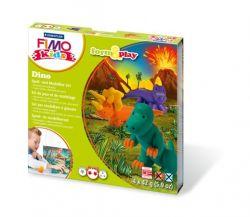 """FIMO """"Kids Form & Play"""" égethető dínók gyurma készlet (4x42 g)"""