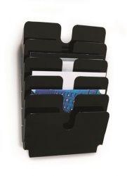 DURABLE FLEXIPLUS 6 A4 fekvő fali fekete prospektustartó