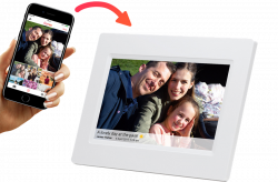 "Denver PFF-710WHITE 7"" Smart +FRAMEO software, fehér digitális képkeret"