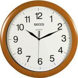 "SECCO Sweep Second"" 32 cm falióra fa hatású kerettel """