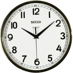 SECCO 24 cm króm színű keretes falióra