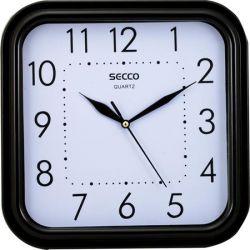 """SECCO Sweep second"""" 25,5x25,5 cm négyzet alakú fekete keretes falióra"""""""