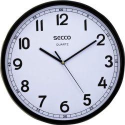 """SECCO """"Sweep second"""" 29,5 cm-es fekete keretes falióra"""