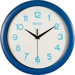 """SECCO Sweep second"""" 30 cm kék keretes falióra kék számokkal"""""""