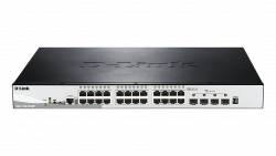 D-Link Switch 24x1000Mbps Poe + 4x10G SFP+Stackable L3 Smart switch