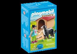 Playmobil® (70136) Country Házőrző kutyaházzal