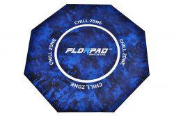 Florpad Chill Zone 120x120x0,4 cm fekete-kék gamer szőnyeg