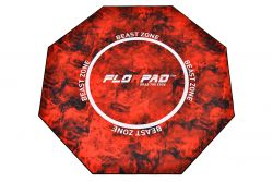 Florpad Beast Zone 120x120x0.4cm fekete-piros gamer szőnyeg