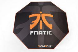 Florpad Fnatic 120x120x0,4 cm fekete-narancs gamer szőnyeg