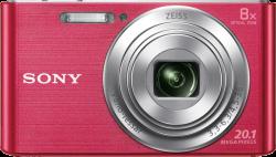 Sony DSC-W830 20.1MP, 8x zoom rózsaszín kompakt fényképezőgép + 32GB SD kártya