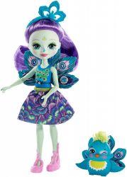 Mattel Enchantimals - Patter Peacock és Flap baba állatkával