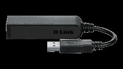 D-LINK DUB-E100 USB 2.0 10/100 Mbps fekete hálózati adapter