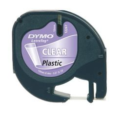 """DYMO """"Letratag"""" 12 mm x 4 m víztiszta feliratozógép szalag"""