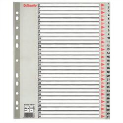 ESSELTE A4 Maxi 1-31 műanyag szürke regiszter
