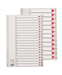 ESSELTE A4 Maxi A-Z műanyag szürke regiszter