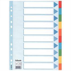 Esselte Standard A4 10 részes színes karton regiszter írható előlappal