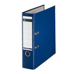 """Leitz """"180"""", 80 mm, A4, PP/karton, élvédő sínnel, kék iratrendező"""