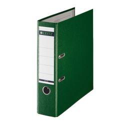 """Leitz """"180"""",  80 mm, A4, PP/karton, élvédő sínnel, zöld iratrendező"""