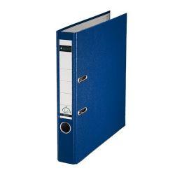 """Leitz """"180"""", 52 mm, A4, PP/karton, élvédő sínnel, kék iratrendező"""