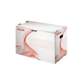 """ESSELTE """"Standard"""" előre nyíló karton fehér archiváló konténer iratrendezőknek"""