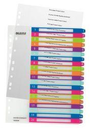 """LEITZ """"Wow"""" A4 Maxi 1-20 nyomtatható regiszter"""