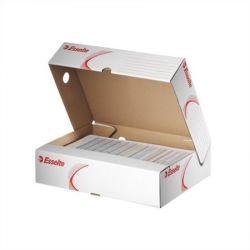 """ESSELTE """"Standard"""" A4 80 mm karton felfelé nyíló fehér archiváló doboz"""