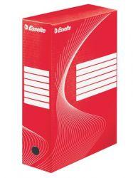 "ESSELTE ""Standard"" A4 100 mm karton piros archiváló doboz"