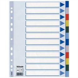 ESSELTE A4 12 részes műanyag regiszter