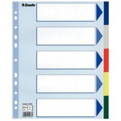 Esselte A4 Maxi 5 részes műanyag regiszter