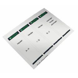 LEITZ öntapadó 61x192 mm szürke cserecímke iratrendezőhöz (100 db/csomag)
