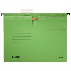 """LEITZ """"Alpha"""" A4 gyorsfűzős karton zöld függőmappa"""