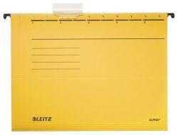 """LEITZ """"Alpha Standard"""" A4 karton sárga függőmappa"""