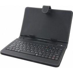 """Esperanza EK123 MADERA 7"""" Univerzális tablet tok + angol billentyűzet"""