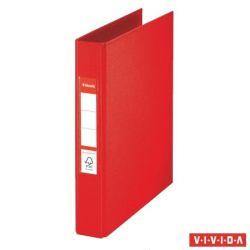 "ESSELTE ""Standard"" Vivida A5 42 mm 2 gyűrűs PP piros gyűrűskönyv"
