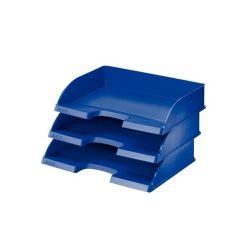 """LEITZ """"Plus"""" oldalt nyitott műanyag kék irattálca"""