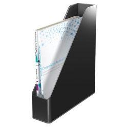 """LEITZ """"Duo"""", Iratpapucs, műanyag, 73 mm, kettős színhatású,  fekete"""