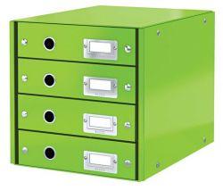 """LEITZ """"Click&Store"""" zöld 4 fiókos laminált karton irattató"""
