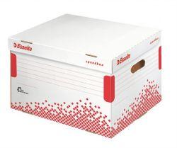 """ESSELTE """"Speedbox"""" felfelé nyíló újrahasznosított karton fehér archiváló konténer"""