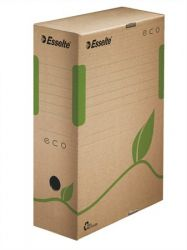 """ESSELTE """"Eco"""" A4 100 mm újrahasznosított karton barna archiváló doboz"""