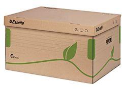"""ESSELTE """"Eco"""" felfelé nyíló újrahasznosított karton barna archiváló konténer"""